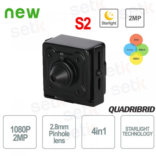 4in1 Starlight 2MP 2.8mm Pinhole WDR Hidden Camera - D