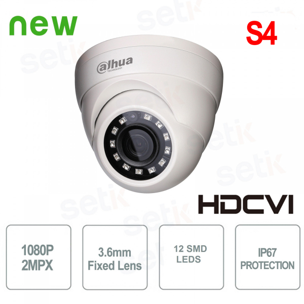 2MP HDCVI IR Eyeball Camera - 1080P, 3.6mm lens - IP67 metal - Lite Series by Dahua