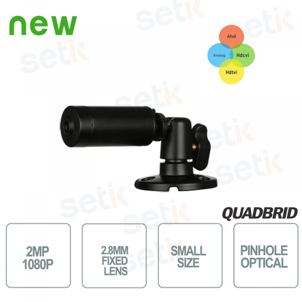 Mini telecamera da esterno HD CVI 2MP 4in1 2.8mm Ottica Pinhole - Dahua