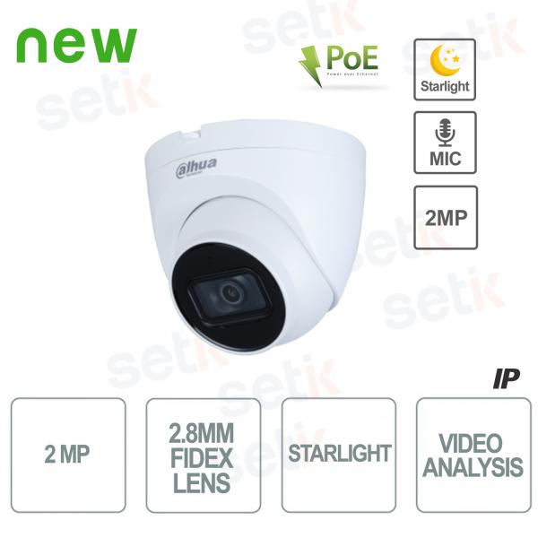 Telecamera IP 1080P Starlight H.265 STARLIGHT Onvif PoE Video Analisi - Dahua