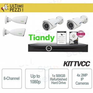 Tiandy 8-Channel Video Surveillance Kit 1080P + 2MP 4mm Cameras + HD 5