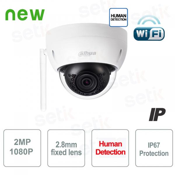 Telecamera IP Wireless Dome WiFi 2MP 2.8mm P2P - Dahua