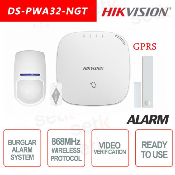 Hikvision Kit di Allarme Professionale 868MHz Wireless senza fili GPRS AXIOM Hub