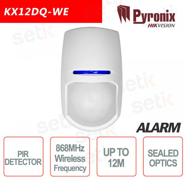 Sensore di Movimento Allarme Wireless PIR 868MHz Pyronix Hikvision AXIOM HUB