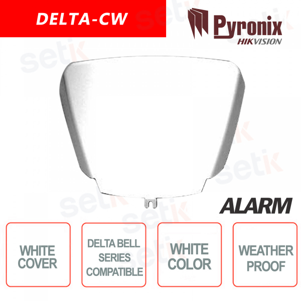 DELTA Pyronix Hikvision Alarm Siren Cover in white polycarbo