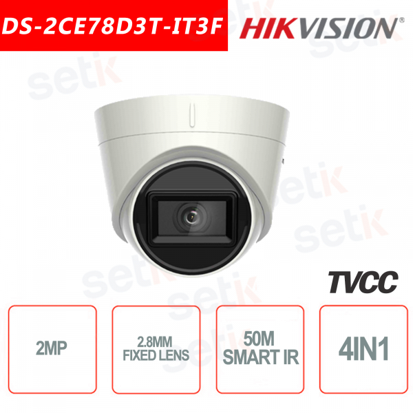 Telecamera Hikvision Turbo HD 2MP Turret Camera 4in1 2.8mm IR