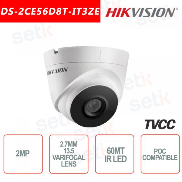 Hikvision Turret Ultra Low-Light 2MP POC Camera HD Turbo TVI 2.7mm ~ 13.5mm EXIR 60M