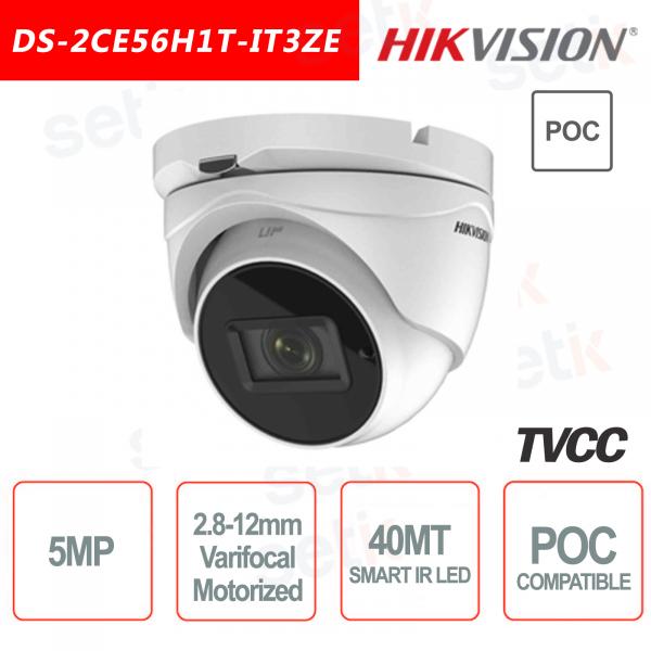 Hikvision 5MP POC Camera HD Turbo TVI Turret Motorized EXIR