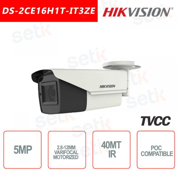 Hikvision Ultra Low-Light 5MP POC Camera HD Turbo TVI Motorized EXIR 40M