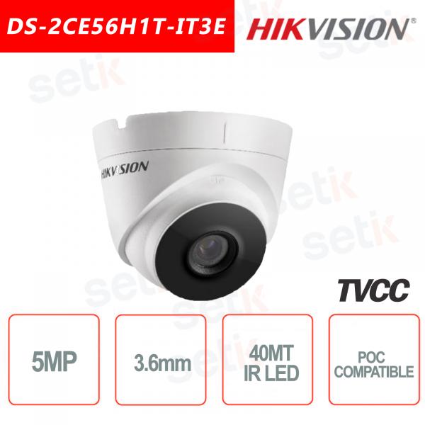Hikvision Turret Ultra Low-Light 5MP POC Camera HD Turbo TVI 3.6mm EXIR 40M