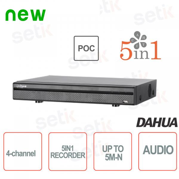 XVR 4 Channels 5M-N HDCVI AHD TVI ANALOG IP PoC doors - D