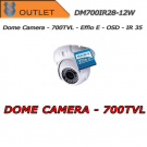 Telecamera Dome Effio-E 700TVL Varifocal 2.8-12mm - Bianca - Outlet