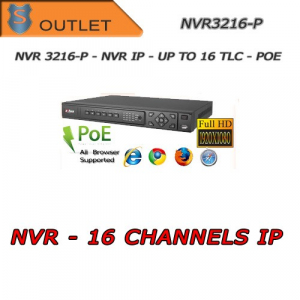 Nvr 16 Canali  IP - 2HD + PoE Dahua - Outlet