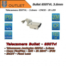 Telecamera Bullet 850TVL Focal 3.6mm - IR 20mt - Outlet