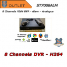 8 Channels H264 DVR D1 / CIF 400fps Alarm - OUTLET