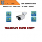 600TVL Bullet Camera - 6mm Fixed Lens - White - IR 20mt  - Outlet