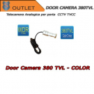 "380TVL Door Camera - Lens 3.6mm - Cmos 1/3"" - CCTV TVCC - OUTLET"