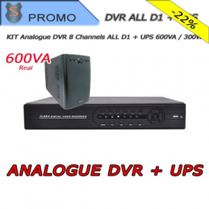 Analogue DVR 8 Channels All D1 + UPS 600VA / 300W