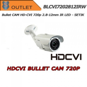 720P HD-CVI Bullet Camera - 2.8-12mm Varifocal Lens IR 35Mt Setik OUTLET