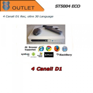 DVR 4 Canali H264 FULL D1 400fps OUTLET