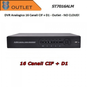 DVR 16 Canali H264 D1 + CIF ALLARME - OUTLET