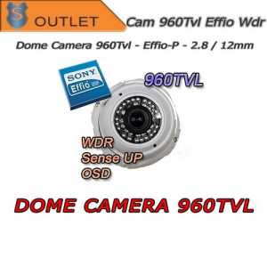 960TVL EFFIO-P camera - Sense UP Dome - Varifocal 2.8-12mm - OUTLET