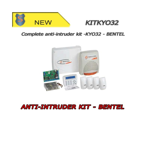 Wire 32 Zone Alarm Kit - BENTEL - KYO32