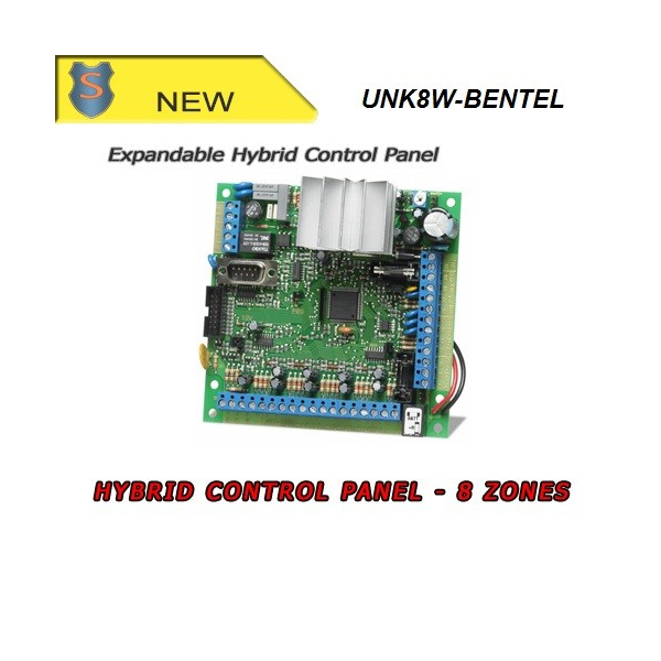 Expandable Hybrid Control Panel for Small-scale Installation - 8 On-board zones - KYO8W BENTEL