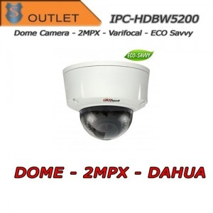 Telecamera IP Dome 2.0 MPX PoE IR Eco Savvy Dahua - Outlet