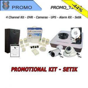 KIT Videosorveglianza 4 Canali completo + Kit Allarme e UPS - Setik