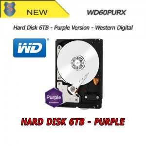 HD 6TB Hard Drive Purple Version - Top Quality - Audio/Video - Western Digital