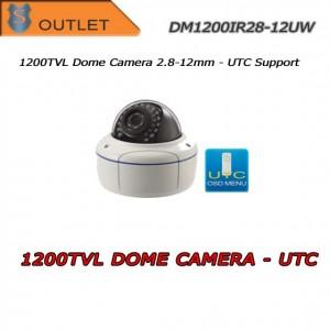 Telecamera Dome 1200TVL Focal 2.8-12mm - UTC - Outlet