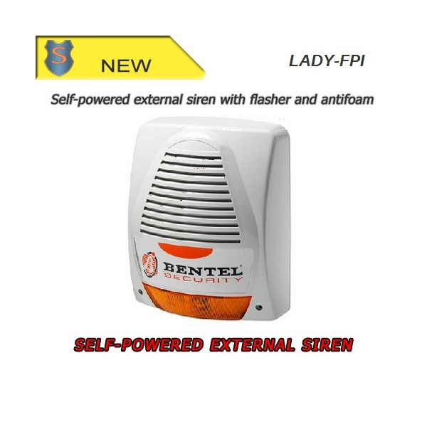 Self-powered external siren with flasher and antifoam - Bentel