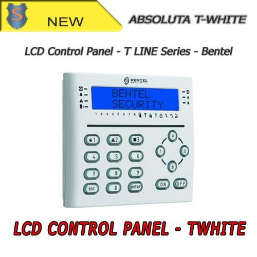 Absoluta twhite tastiera lcd bianca con lettore di for Bentel absoluta 42 prezzo
