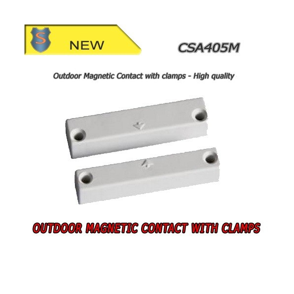 Outdoor magnetic contact with clamps