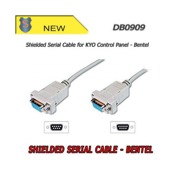 9-pin serial shielded cable - Bentel