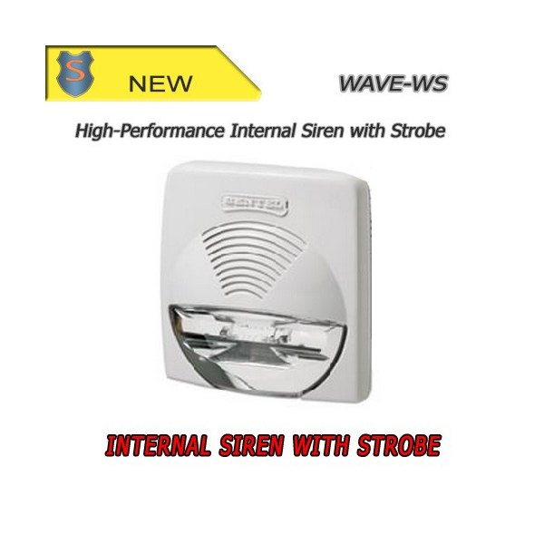 White Indoor 12 V Siren with Strobe - Bentel