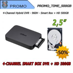 """DVR Videosorveglianza 4 Canali 960H Smart Box + Hard Disk 500GB 2.5"""""""