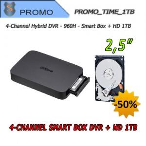 """DVR Videosorveglianza 4 Canali 960H Smart Box + Hard Disk 1TB 2.5"""""""