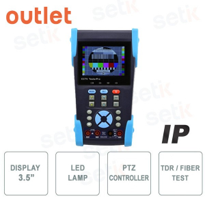 "Tester CCTV 3.5"" Pro - Lampada LED - PTZ Controller - Outlet"