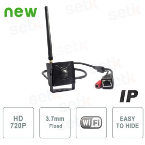 IP Wireless Hidden Camera 1Megapixel Pinhole 3.7mm - Setik