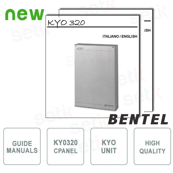 Set of Manuals for Central KYO320 - Italian / English language