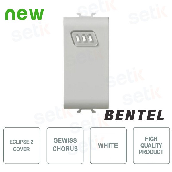 Cover for Eclipse 2 Proximity Readers - Gewiss Chorus White series - Bentel