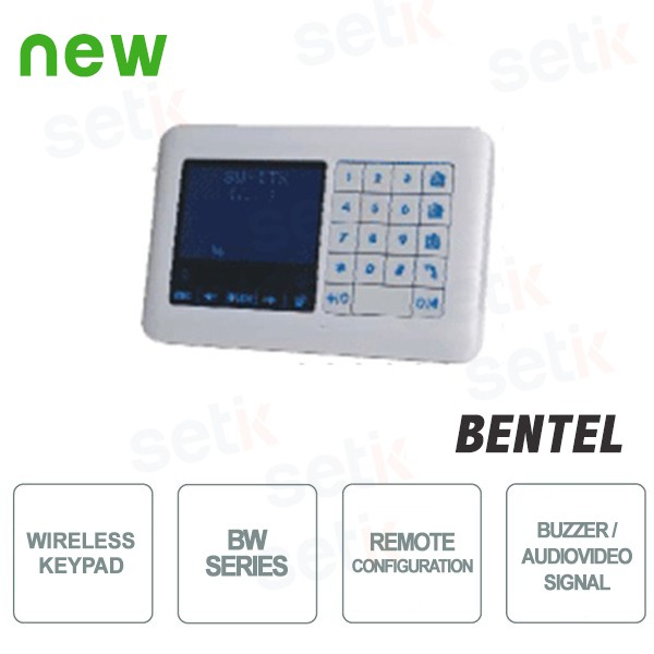 Tastiera LCD Wireless - Serie BW - Bentel Security