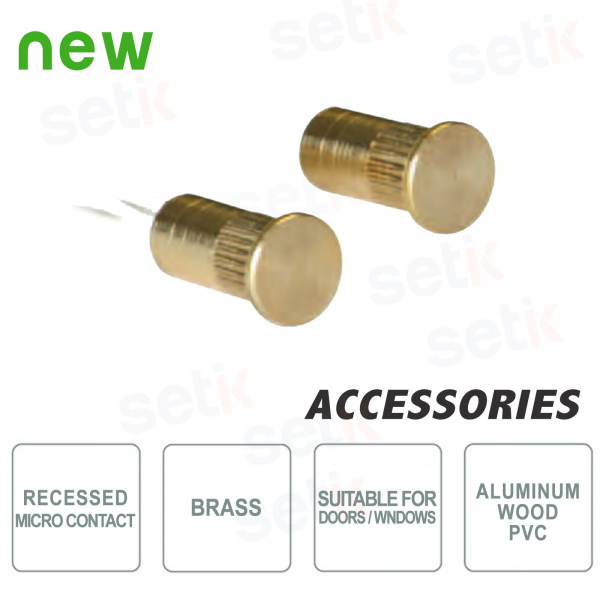 Brass Recessed Microcontact Highly Resistent