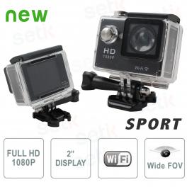 Telecamera Sportiva FULL HD 1080P Foto e Video Waterproof WiFi - Setik
