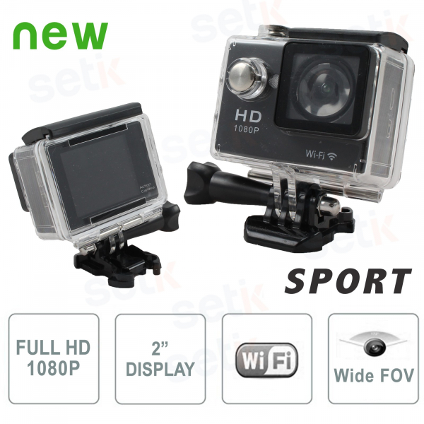 Sports action camera Full HD 1080P Waterproof WiFi - Photos and Videos - Setik