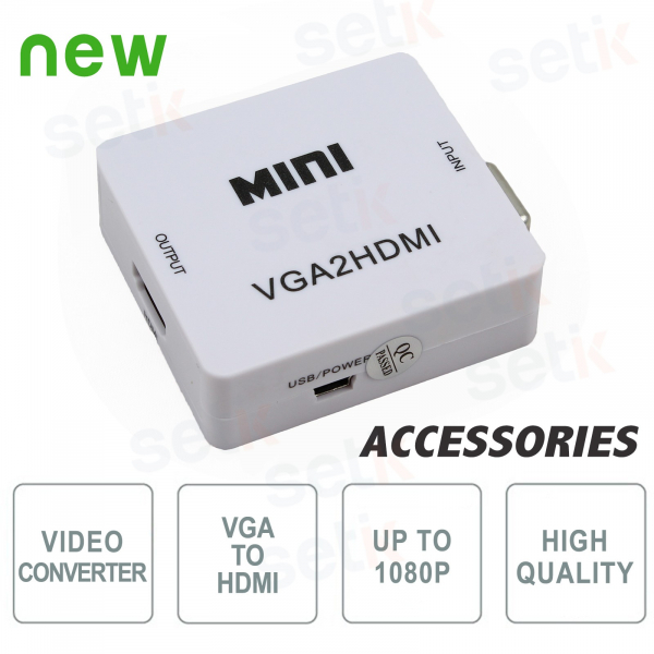 Video signal Converter from VGA to HDMI - Setik