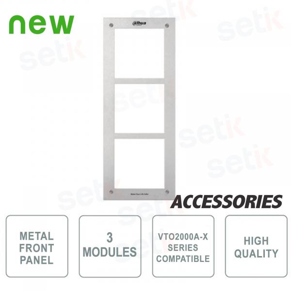 Cornice 3 Moduli per Postazione Esterna Modulare e Accessori - VTO2000A-C/B/R/K - Dahua