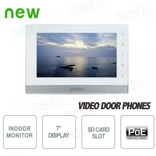 """Communicating Indoor Station - Display 7"""" Touch - Slot SD Card - Dahua"""